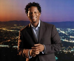 D.L. Hughley is black! Get it?!