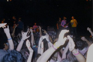 This was back before I took cameras to shows. I thought that this concert was definitely one worth capturing though so I bought a shitty disposable camera and this was the result.